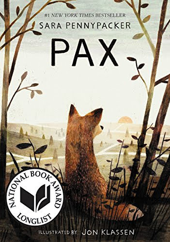 Pax book Cover - Fox with back turned facing sun rising on treeless landscape.